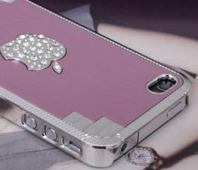 New Bling Sparkle Crystal Logo Pink Elegant iPhone 5 Case