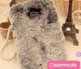New Chic Luxury Warm Soft Rabbit Fur Samsung Galaxy Note 2 N7100 Case Cover