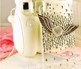 New Bling Sparkle Angel's Wings Rhinestones iPhone 5 Case